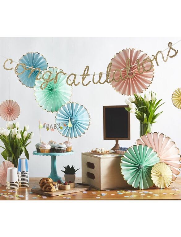 Meri Meri Congratulations Garland, Gold
