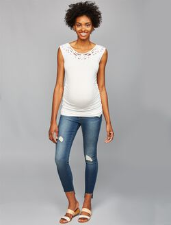 Articles Of Society Secret Fit Belly Skinny Leg Maternity Jeans, Medium Wash