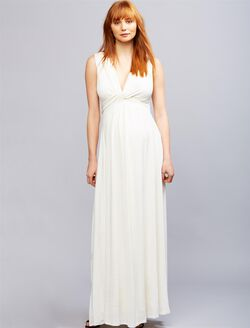 Envie de Fraise Flora Maternity Maxi Dress, WHITE