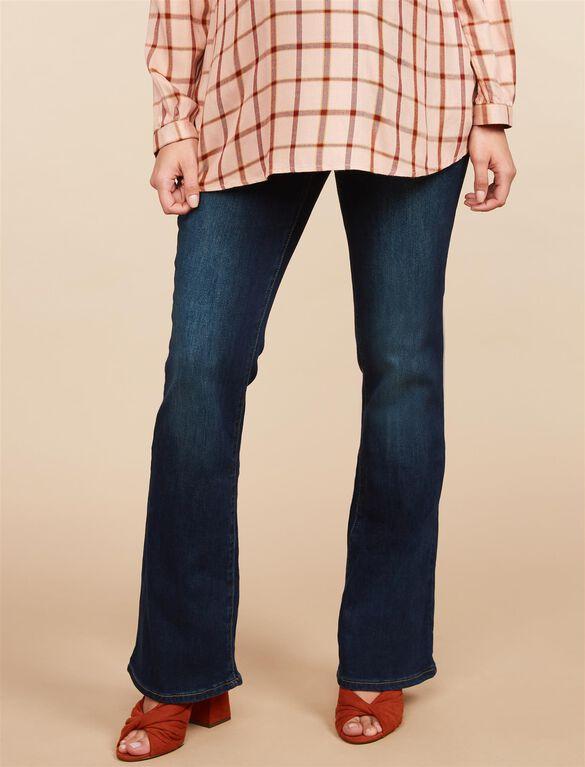 Secret Fit Belly Stretch Boot Cut Maternity Jeans, Dark Wash