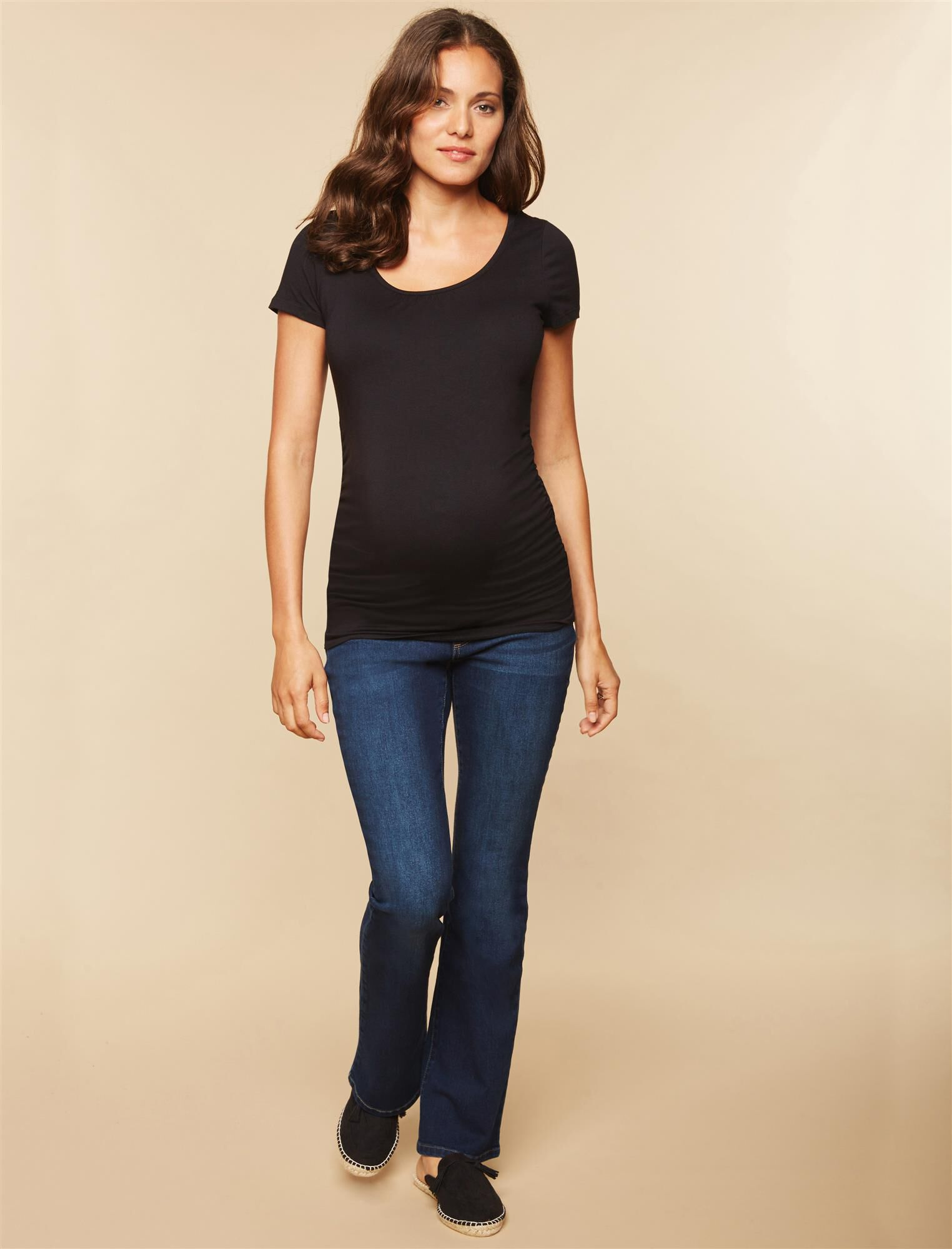 Long Secret Fit Belly Stretch Boot Cut Maternity Jeans