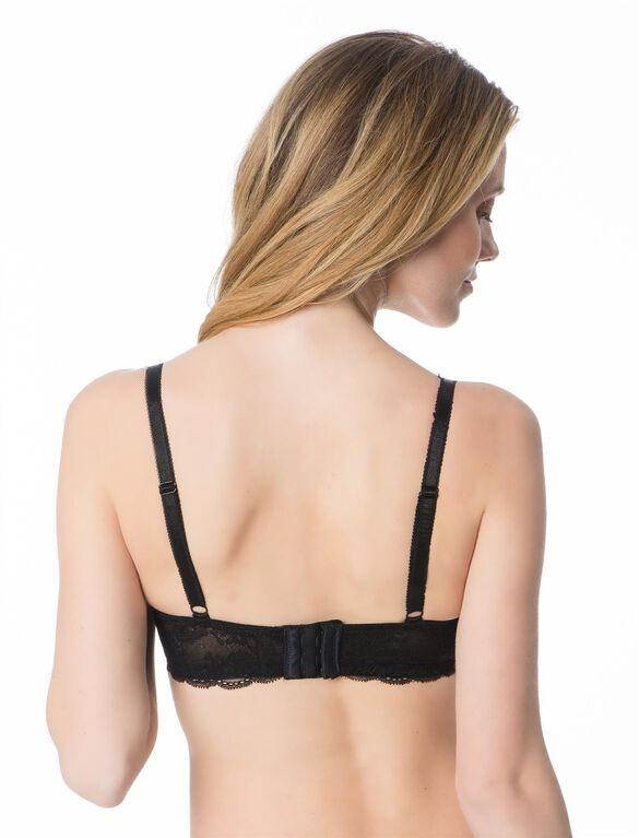 Lace Detail Demi Nursing Bra, Black