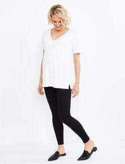 Under Belly Ponte Maternity Leggings, Black