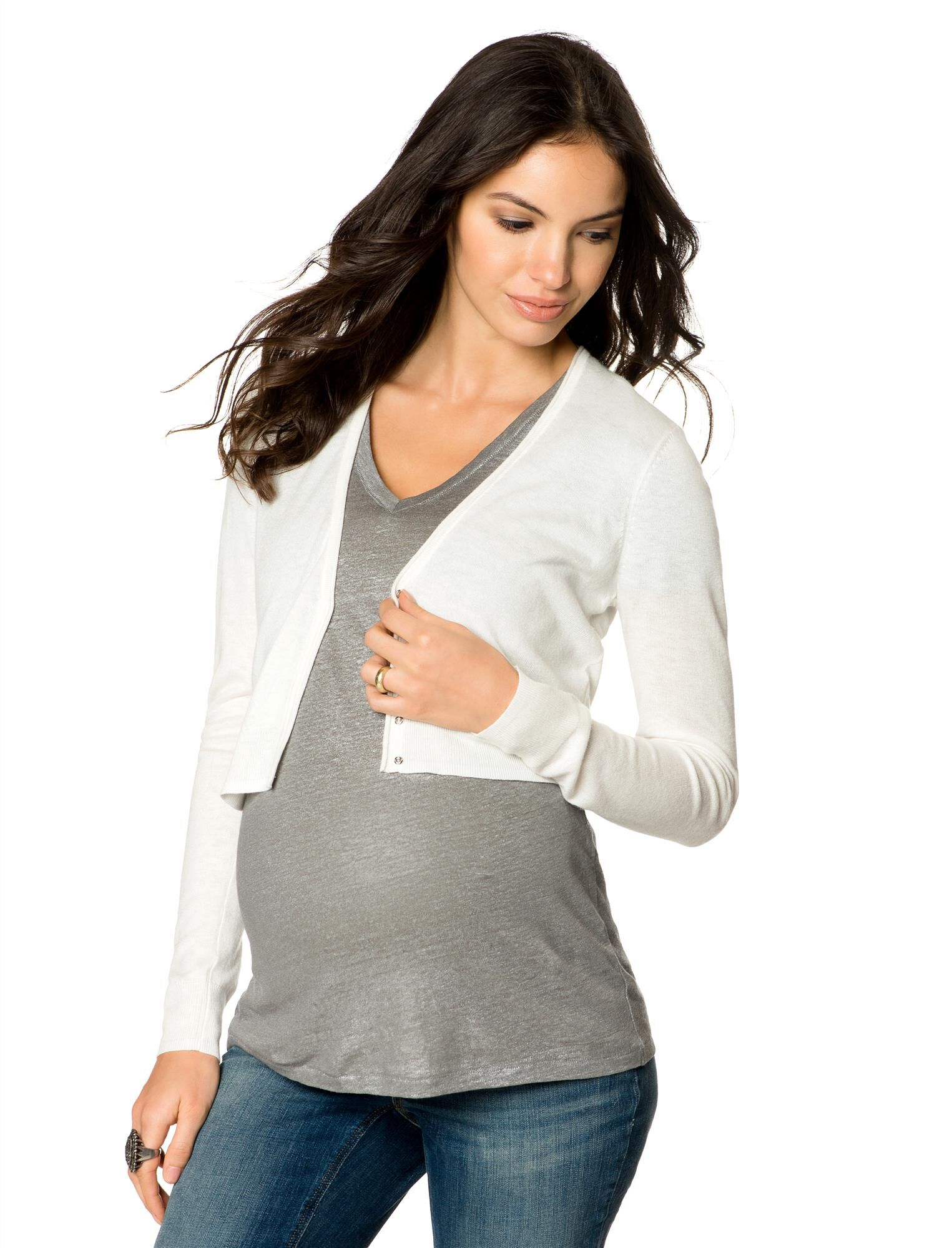 Open Front Maternity Cardigan