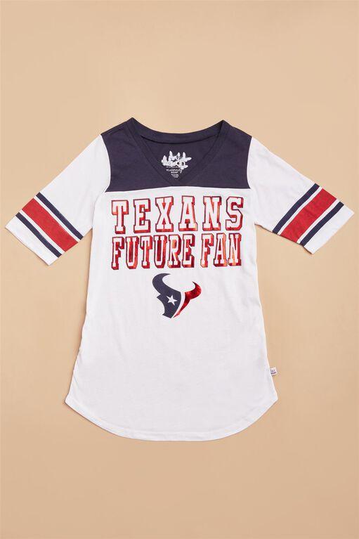 Houston Texans NFL Elbow Sleeve Maternity Tee, Texans