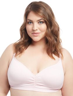 Jessica Simpson Plus Size Seamless Clip Down Nursing Bra, Blushing Bride