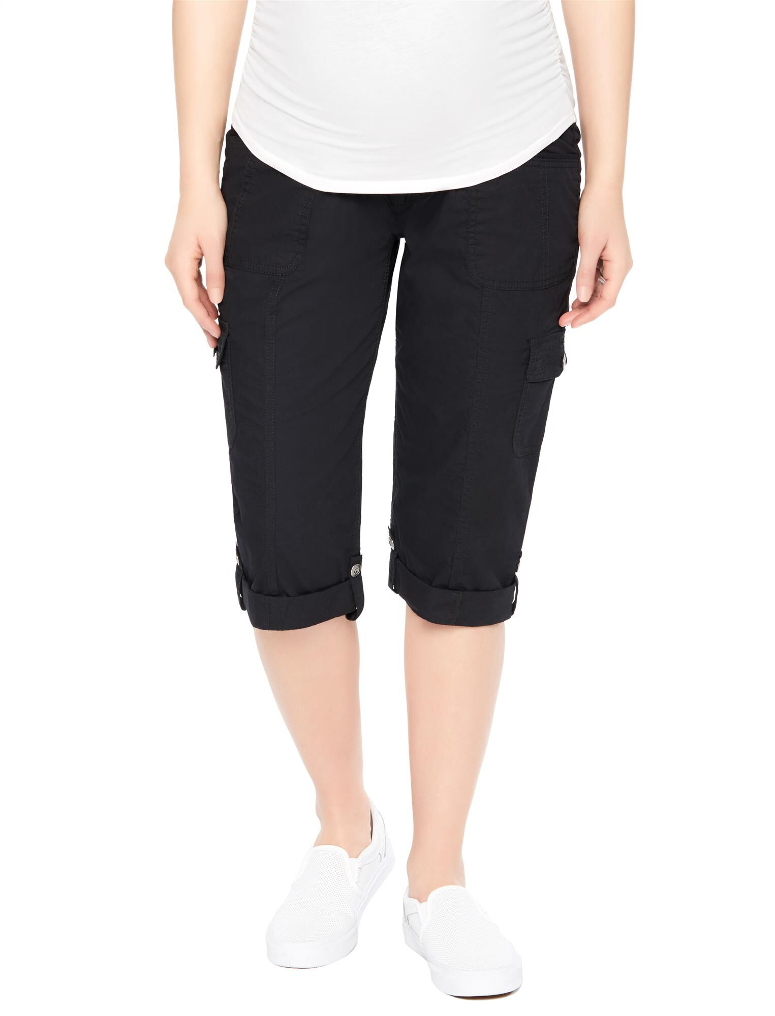 Secret Fit Belly Poplin Maternity Pants