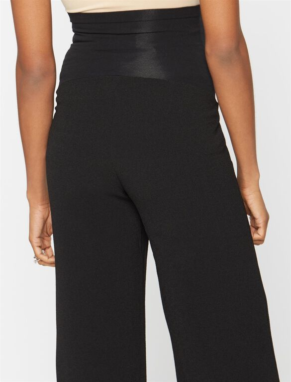 Secret Fit Belly Crepe Culotte Maternity Pants, Black