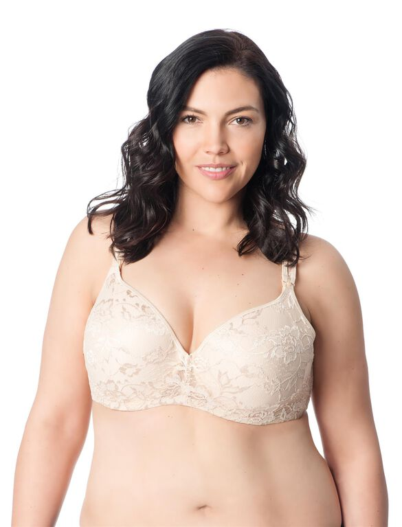 Padded Cup Underwire Full Coverage Nursing Bra, Nude