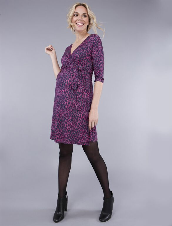 Seraphine Babydoll Maternity Dress, Blue Print