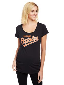 Baltimore Orioles MLB You're Out Maternity Tee, Orioles Black
