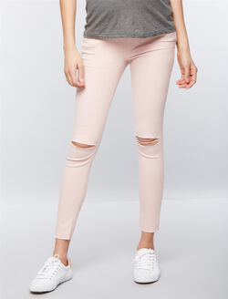 Joe's Jeans Secret Fit Belly Skinny Ankle Maternity Jeans, Pink