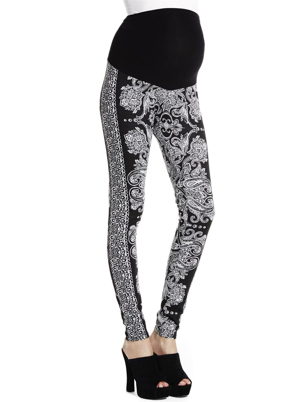 Jessica Simpson Secret Fit Belly Jacquard Maternity Leggings at Motherhood Maternity in Victor, NY | Tuggl