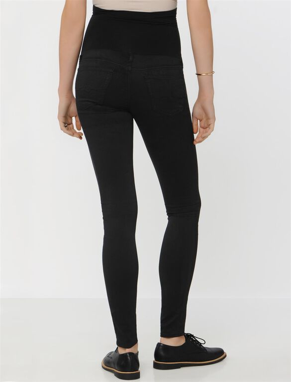 AG Secret Fit Belly Sateen Maternity Leggings, Super Black
