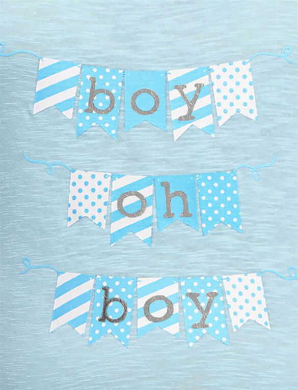 Plus Size Boy Oh Boy Maternity Tee, Blue