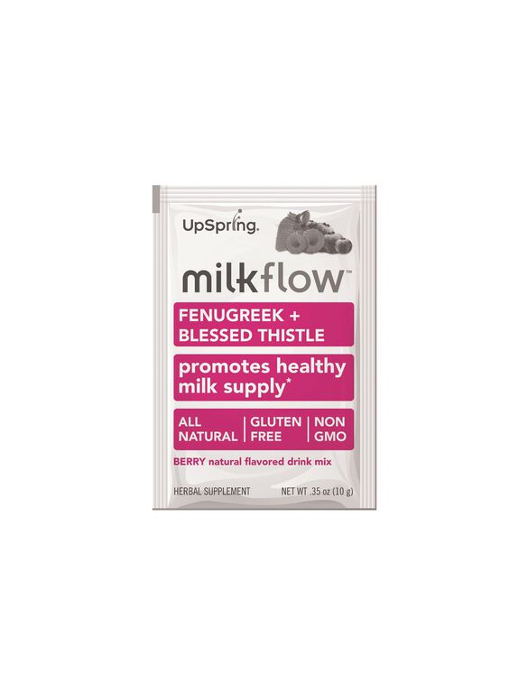 Upspring Milkflow Fenugreek Blessed Thistle Drink Mix, Berry