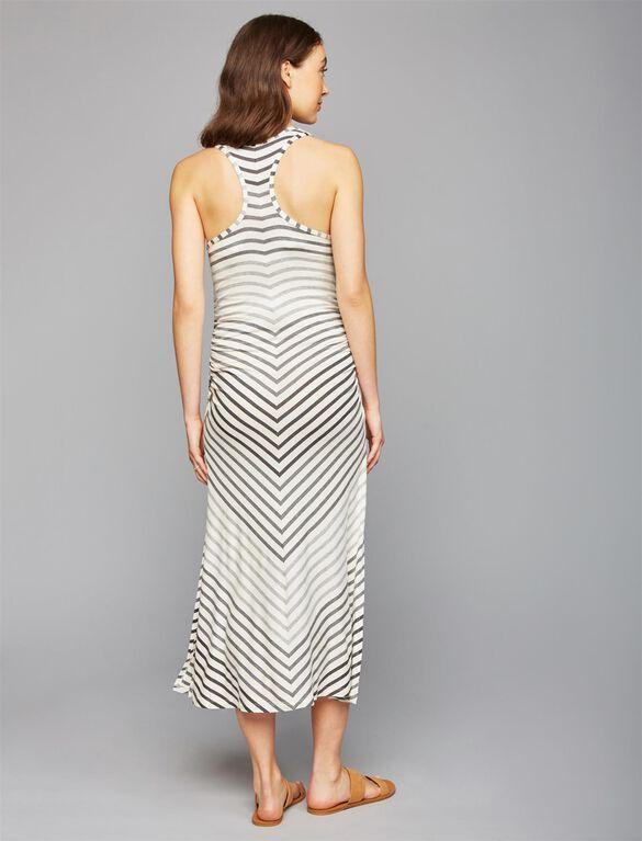 Lightweight Maternity Dress, OMBRE STRIPE
