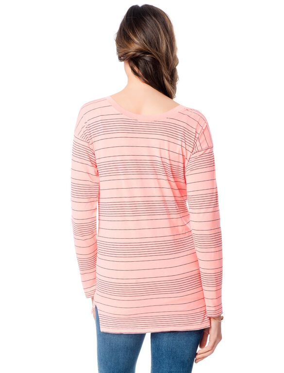 Splendid Maternity T Shirt, Papaya
