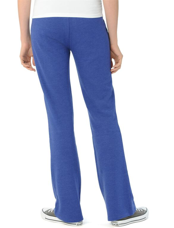 Under Belly French Terry Classic Maternity Active Pant, Cobalt