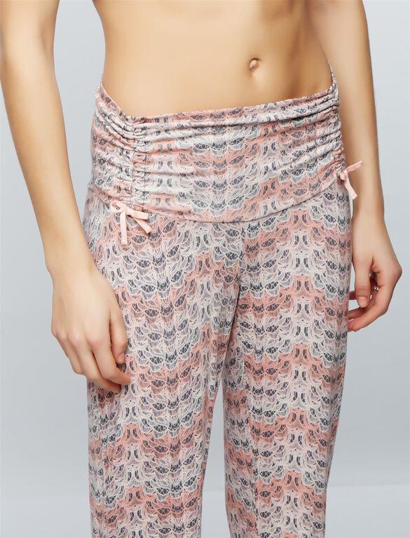 Bow Detail Maternity Sleep Pants, Feather