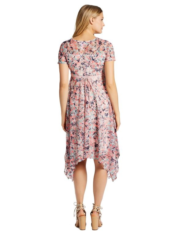 Jessica Simpson Hanky Hem Maternity Dress, Floral Print