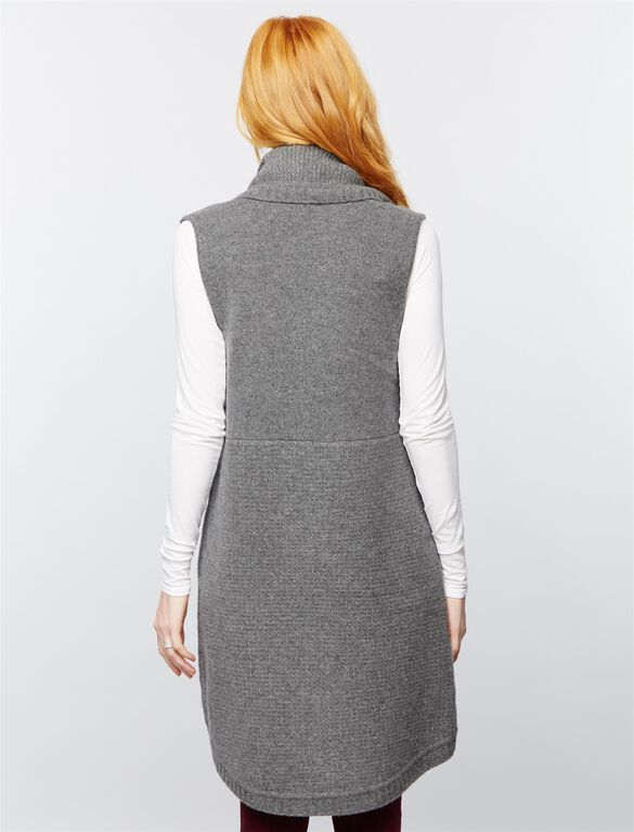 Splendid Open Front Maternity Vest, Dove Grey