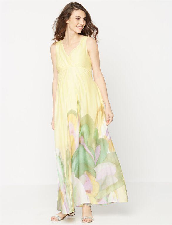 Pietro Brunelli Smocked Waist Maternity Maxi Dress, Oasis Print