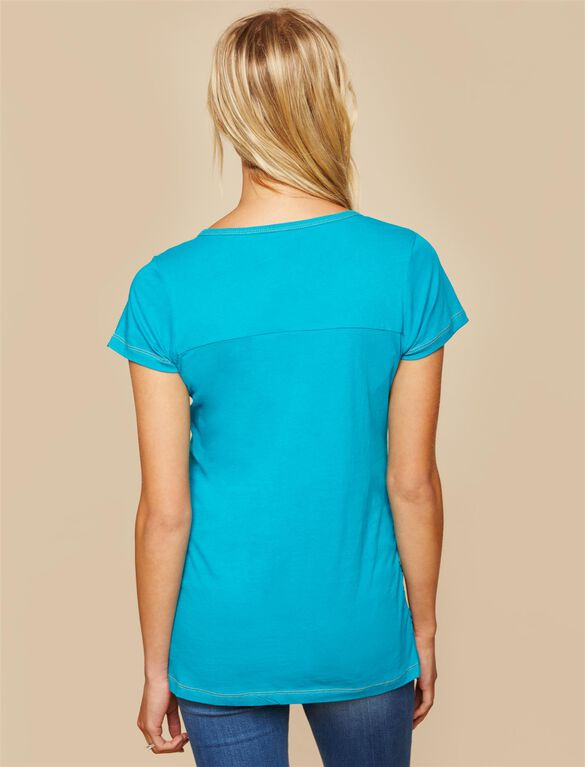 Miami Dolphins NFL Mesh Detail Maternity Tee, Dolphins