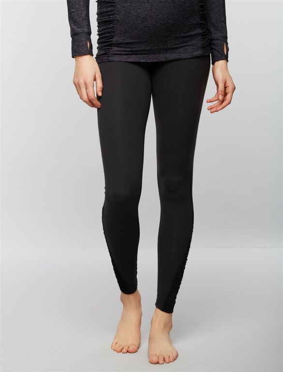 Beyond The Bump Fold Over Belly Maternity Pants, Black
