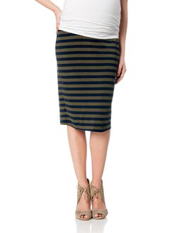 Splendid No Belly Maternity Skirt, Olivine