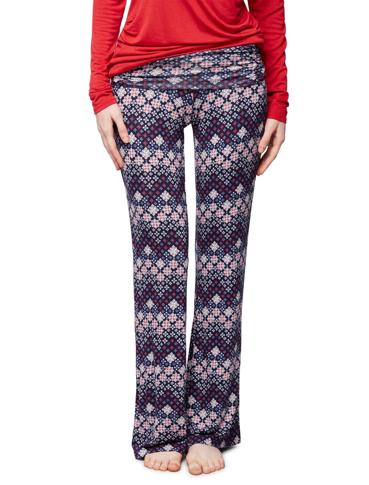 Bow Detail Maternity Sleep Pants- Prints