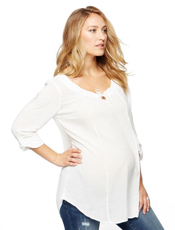 Splendid Maternity Blouse, White