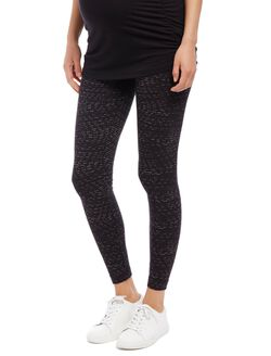 Secret Fit Belly Printed Maternity Leggings, Line Print