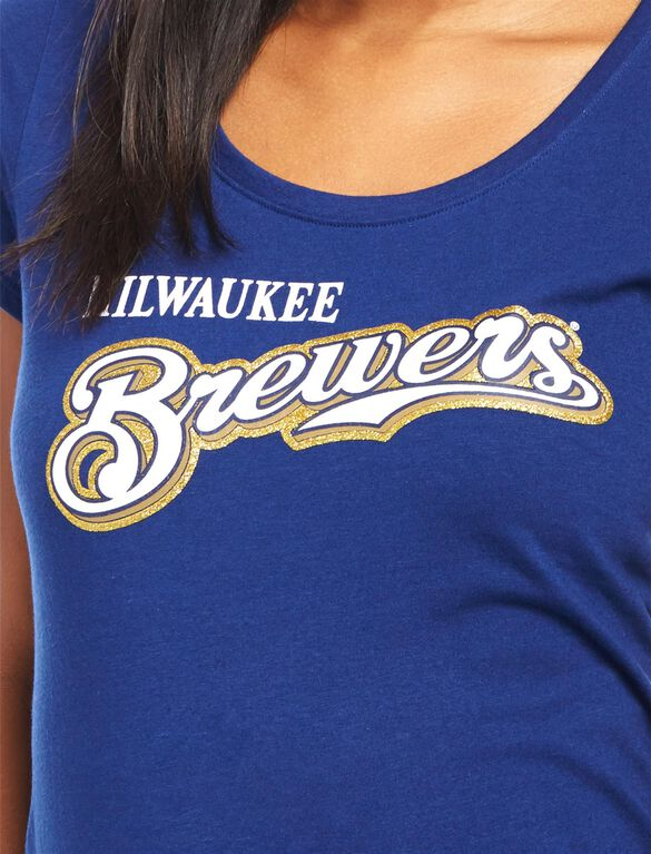 Milwaukee Brewers MLB You're Out Maternity Tee, Brewers Navy