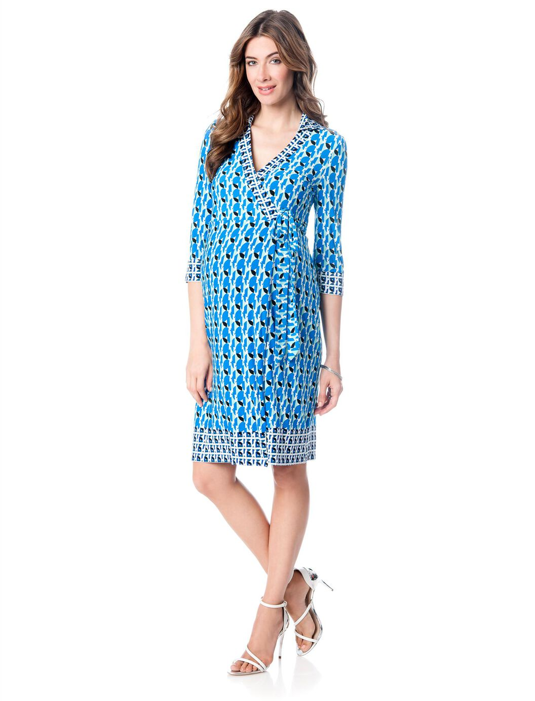 Ivy blu wrap maternity dress a pea in the pod maternity ivy amp blu wrap maternity dress blue combo ombrellifo Choice Image