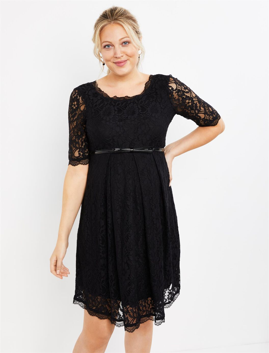 Lace Fit And Flare Maternity Dress | Motherhood Maternity