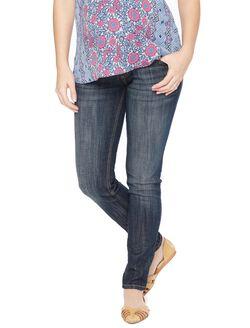 Indigo Blue Secret Fit Belly Skinny Leg Maternity Jeans, Dark Wash