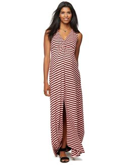 Rachel Zoe Striped Maternity Maxi Dress, Stripe Sorbet
