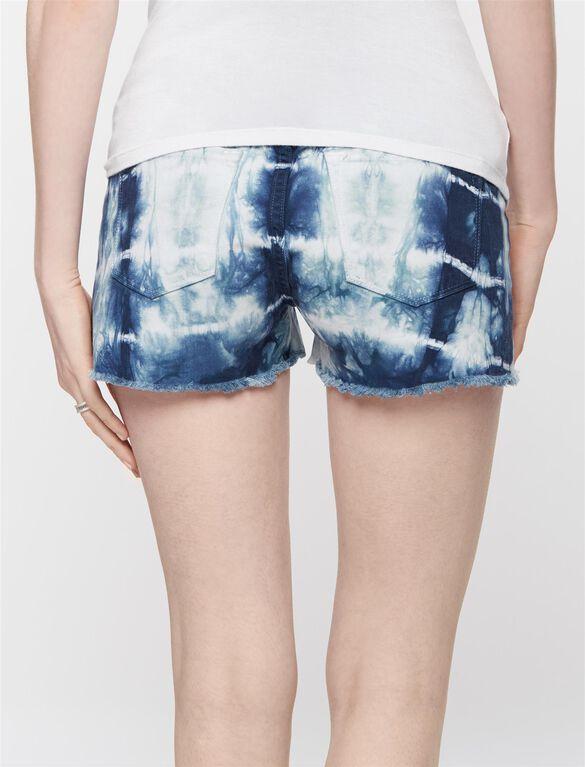 J Brand Secret Fit Belly Tie Dye Maternity Shorts, Tie Dye