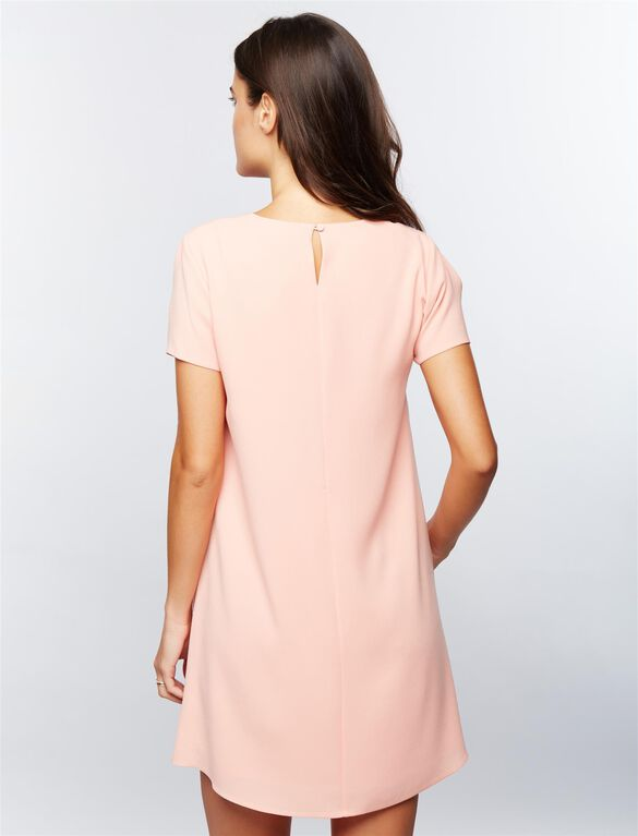 BCBGMAXAZRIA Cold Shoulder Cutout Maternity Dress, Dark Blush