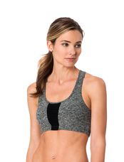 Beyond The Bump By Beyond Yoga Sports Bra, Black/Steel