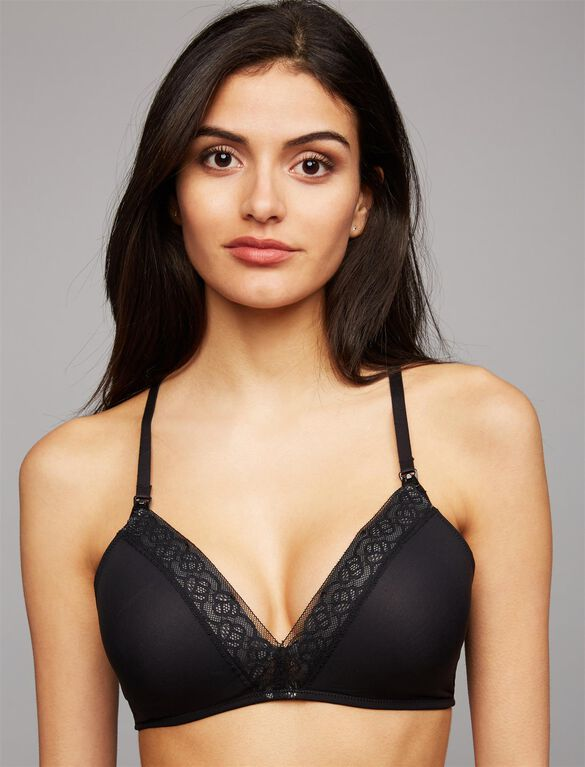 Natori Wireless Lightly Lined Nursing Bra, Black