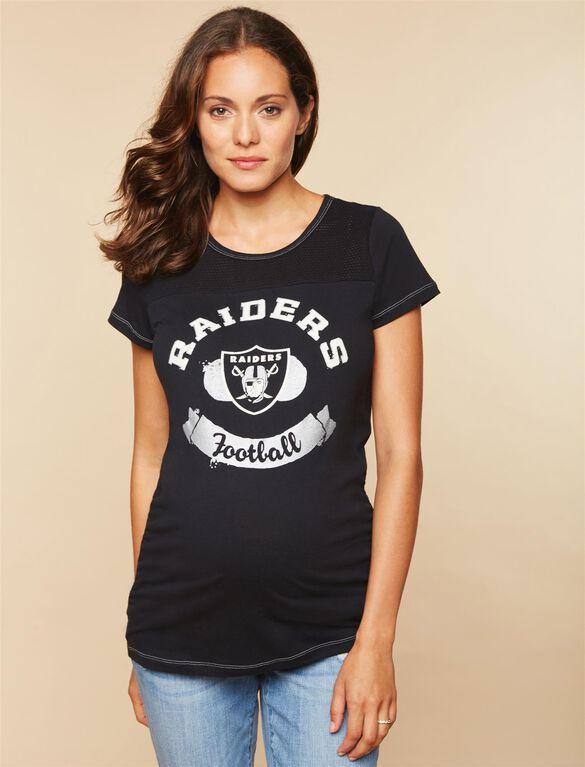 Oakland Raiders NFL Mesh Detail Maternity Tee, Raiders