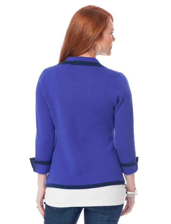 Maternity Sweater, Geode Blue