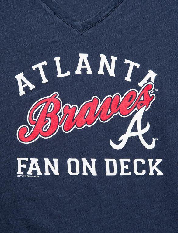 Atlanta Braves MLB Short Sleeve Maternity Graphic Tee, Braves