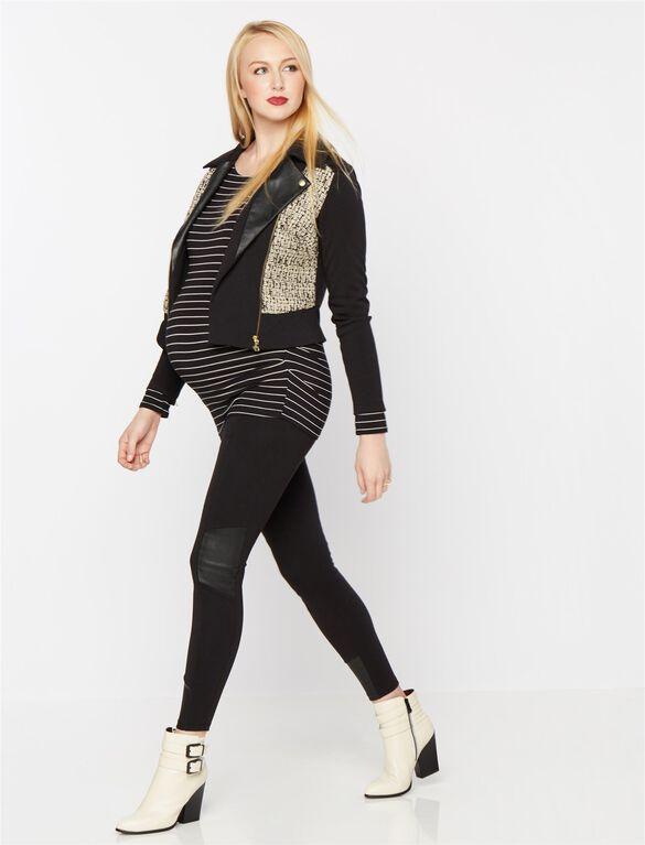Rachel Zoe Ponte Woven Maternity Jacket, Multi