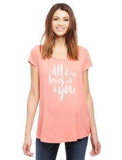 All of Me Loves All of You Maternity Tee, Pink