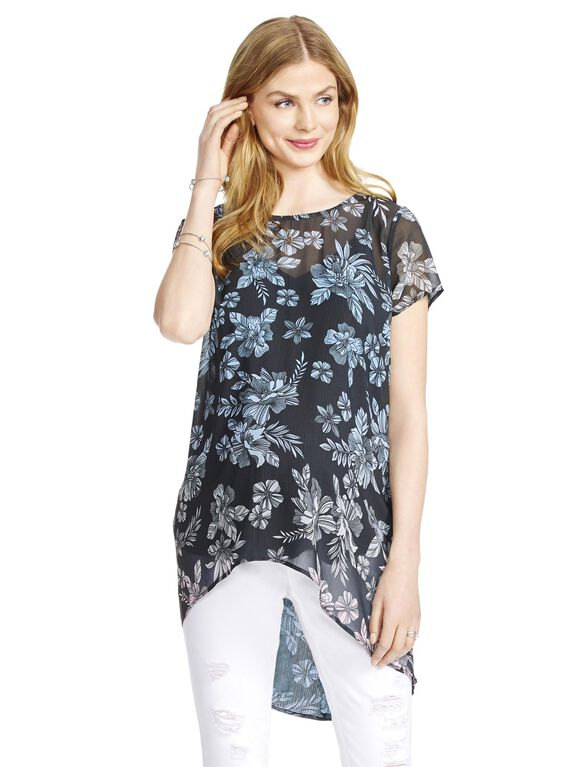 Jessica Simpson High-low Hem Maternity Top, Ombre