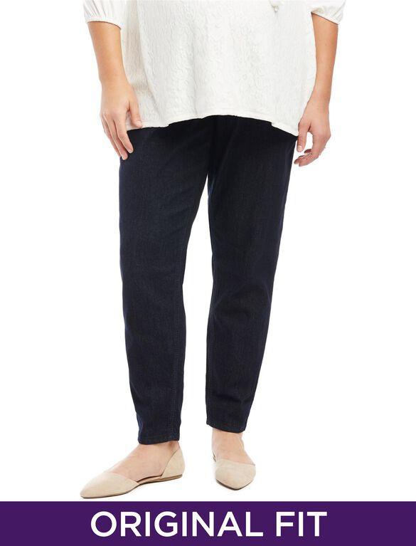 Plus Size Secret Fit Belly Skinny Leg Maternity Jeans, Indigo Denim