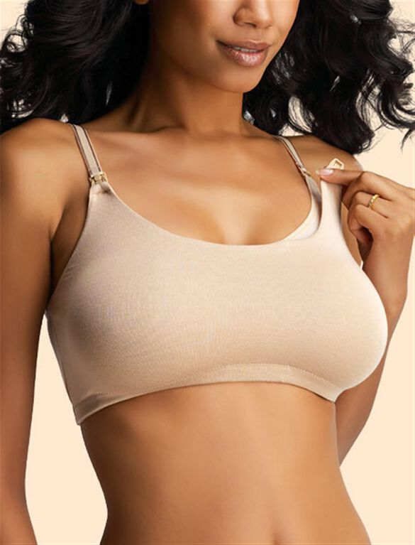 Full Coverage Nursing Sleep Bra, Nude